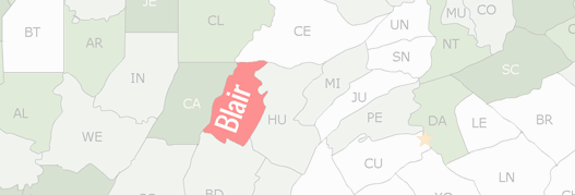 Blair County Map