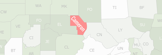 Cameron County Map